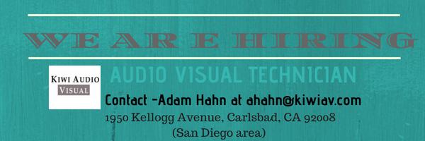 Kiwi is hiring! Audio Visual Technician